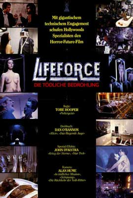 Lifeforce - 27 x 40 Movie Poster - German Style B