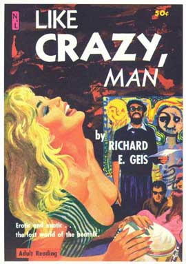 Like Crazy, Man - 11 x 17 Retro Book Cover Poster