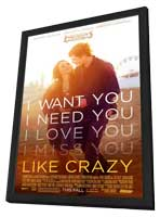 Like Crazy - 27 x 40 Movie Poster - Style A - in Deluxe Wood Frame