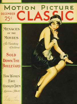 Lila Lee - 27 x 40 Movie Poster - Motion Picture Classic Magazine Cover 1920's Style A