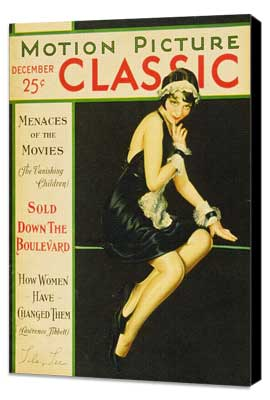 Lila Lee - 11 x 17 Motion Picture Classic Magazine Cover 1920's Style A - Museum Wrapped Canvas