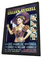 Lillian Russell - 11 x 17 Movie Poster - Style B - in Deluxe Wood Frame