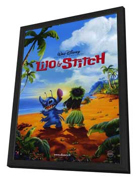 Lilo & Stitch - 27 x 40 Movie Poster - Style B - in Deluxe Wood Frame