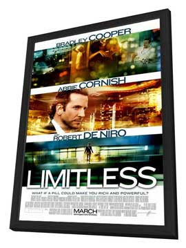 Limitless - 27 x 40 Movie Poster - Style A - in Deluxe Wood Frame