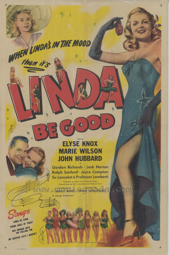 Linda Be Good - 43 x 62 Movie Poster - Bus Shelter Style A
