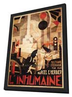 L'Inhumaine - 27 x 40 Movie Poster - Foreign - Style A - in Deluxe Wood Frame