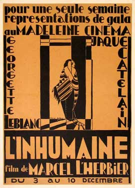 L'Inhumaine - 11 x 17 Movie Poster - French Style C