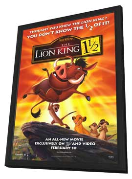 Lion King 1 1/2 - 11 x 17 Movie Poster - Style A - in Deluxe Wood Frame