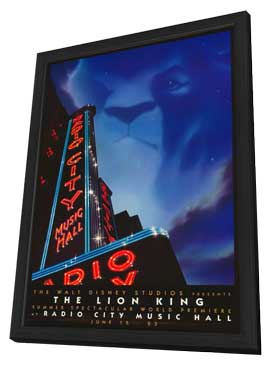 Lion King, The (Stage Play) - 27 x 40 Movie Poster - Style A - in Deluxe Wood Frame