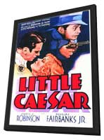 Little Caesar - 11 x 17 Movie Poster - Style A - in Deluxe Wood Frame
