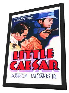 Little Caesar - 27 x 40 Movie Poster - Style A - in Deluxe Wood Frame