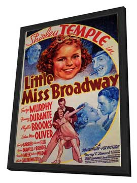 Little Miss Broadway - 11 x 17 Movie Poster - Style A - in Deluxe Wood Frame