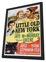 Little Old New York - 11 x 17 Movie Poster - Style A - in Deluxe Wood Frame