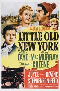Little Old New York - 27 x 40 Movie Poster - Style A