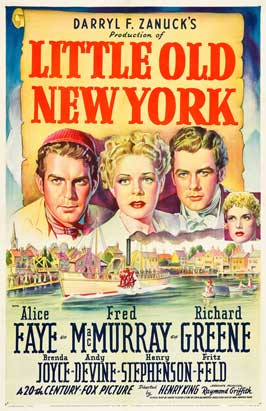 Little Old New York - 11 x 17 Movie Poster - Style B
