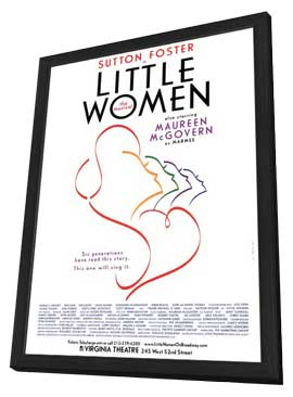 Little Women The Musical (Broadway) - 11 x 17 Poster - Style A - in Deluxe Wood Frame