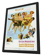 Live a Little, Love a Little - 27 x 40 Movie Poster - Style B - in Deluxe Wood Frame