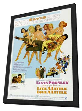 Live a Little, Love a Little - 11 x 17 Movie Poster - Style B - in Deluxe Wood Frame