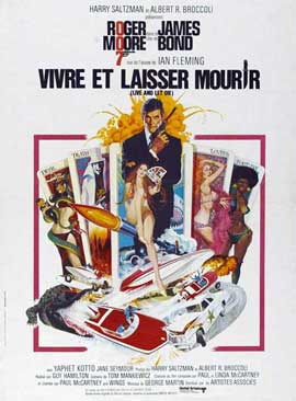 Live and Let Die - 27 x 40 Movie Poster - French Style A