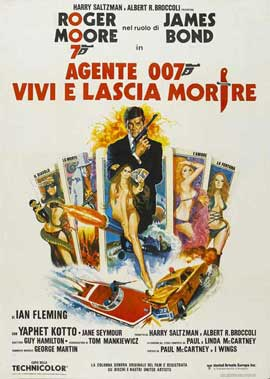 Live and Let Die - 27 x 40 Movie Poster - Italian Style A
