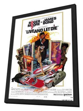 Live and Let Die - 11 x 17 Movie Poster - Style A - in Deluxe Wood Frame