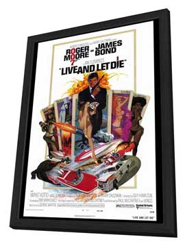 Live and Let Die - 27 x 40 Movie Poster - Style A - in Deluxe Wood Frame