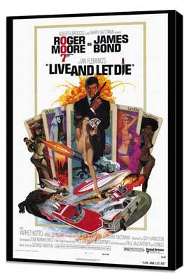 Live and Let Die - 27 x 40 Movie Poster - Style A - Museum Wrapped Canvas