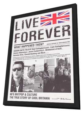 Live Forever - 27 x 40 Movie Poster - Japanese Style A - in Deluxe Wood Frame