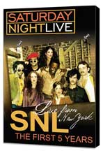 Live from New York: The First 5 Years of Saturday Night Live - 11 x 17 Movie Poster - Style A - Museum Wrapped Canvas