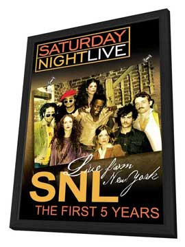 Live from New York: The First 5 Years of Saturday Night Live - 11 x 17 Movie Poster - Style A - in Deluxe Wood Frame