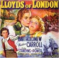 Lloyds of London - 11 x 17 Movie Poster - Style B