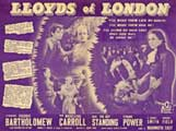Lloyds of London - 22 x 28 Movie Poster - Half Sheet Style A