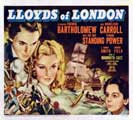 Lloyds of London - 22 x 28 Movie Poster - Half Sheet Style B