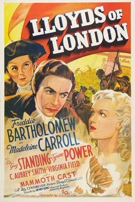Lloyds of London - 11 x 17 Movie Poster - Style G