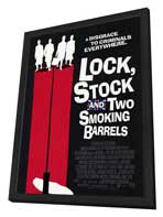 Lock, Stock and 2 Smoking Barrels - 11 x 17 Movie Poster - Style C - in Deluxe Wood Frame