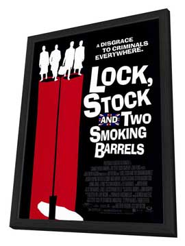 Lock, Stock and 2 Smoking Barrels - 27 x 40 Movie Poster - Style C - in Deluxe Wood Frame