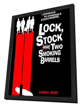 Lock, Stock and 2 Smoking Barrels - 27 x 40 Movie Poster - UK Style A - in Deluxe Wood Frame