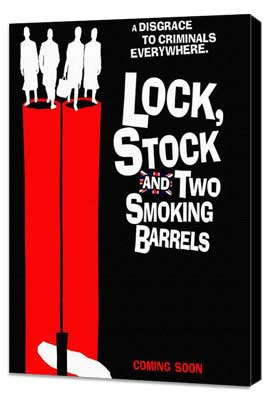 Lock, Stock and 2 Smoking Barrels - 27 x 40 Movie Poster - UK Style A - Museum Wrapped Canvas