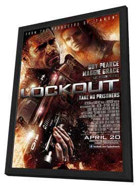 Lockout - 27 x 40 Movie Poster - Style A - in Deluxe Wood Frame