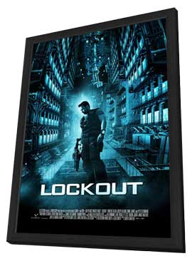 Lockout - 27 x 40 Movie Poster - Style B - in Deluxe Wood Frame