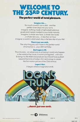 Logan's Run - 27 x 40 Movie Poster - Style J