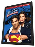 Lois and Clark: The New Adventures of Superman - 11 x 17 Movie Poster - Style A - in Deluxe Wood Frame