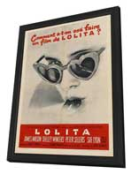 Lolita - 27 x 40 Movie Poster - French Style B - in Deluxe Wood Frame
