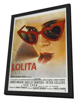 Lolita - 11 x 17 Movie Poster - French Style A - in Deluxe Wood Frame