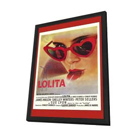 Lolita - 27 x 40 Movie Poster - French Style A - in Deluxe Wood Frame