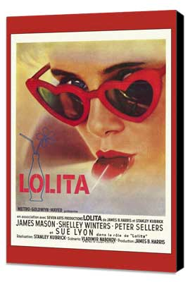 Lolita - 27 x 40 Movie Poster - French Style A - Museum Wrapped Canvas