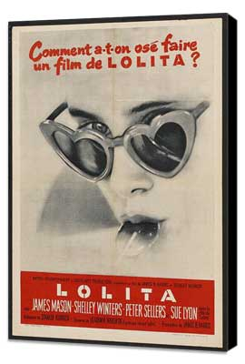 Lolita - 27 x 40 Movie Poster - French Style B - Museum Wrapped Canvas