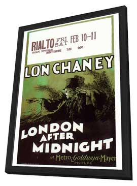 London After Midnight - 27 x 40 Movie Poster - Style A - in Deluxe Wood Frame
