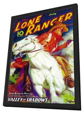 Lone Ranger, The (Pulp) - 11 x 17 Pulp Poster - Style A - in Deluxe Wood Frame