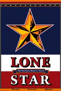 Lone Star Beer Label - Party/College Poster - 24 x 36 - Style A